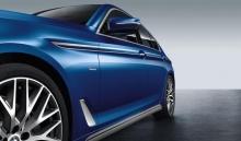Акцентная пленка на боковые пороги BMW G30 5-серия