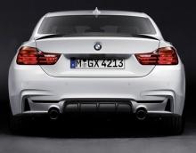 Задний диффузор M Performance для BMW F32 4-серия