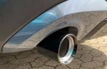 Черная насадка глушителя для BMW X1 F48