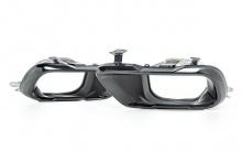 Черные насадки глушителя для BMW X5 G05/X7 G07