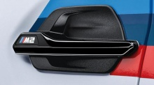Черные глянцевые вставки в передние крылья BMW M2 F87