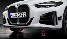 Карбоновая накладка бампера M Performance для BMW G22 4-серия