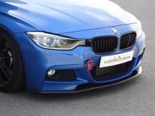 Карбоновый сплиттер для переднего бампера BMW F30 3-серия
