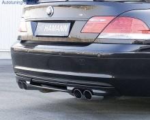 Накладка на бампер задний BMW E65 7-серия