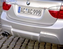 Накладка AC Schnitzer на задний бампер BMW E90 3-серия