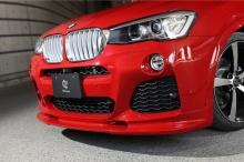 Накладка переднего бампера 3DDesign для BMW X3 F25/X4 F26