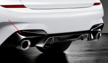 Накладка заднего бампера M Performance для BMW G20 3-серия