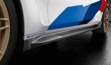 Накладки на пороги M Performance для BMW M4 G82