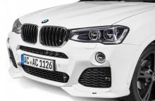 Накладки переднего бампера для BMW X3 F25