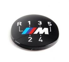 Наклейка эмблема M на рукоятку КПП