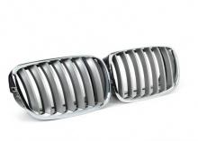 Решетка радиатора BMW X5 E70/X6 E71 (хром-титан)