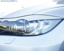 Реснички на фары для BMW E90 3-серия