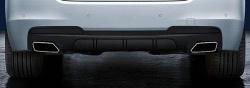 Диффузор заднего бампера M Performance для BMW F10 5-серия