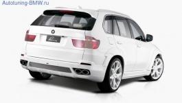 Глушитель Lumma для BMW X5 E70 (раздвоенный выхлоп)