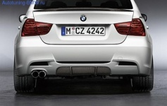 Карбоновая накладка для диффузора Performance BMW E90/E91 3-серия
