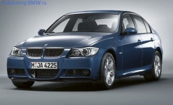 Комплект дооснащения аэродинамическим обвесом М-стиль для BMW E90