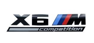 Надпись X6M Competition