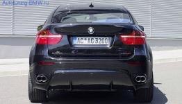 Накладка на бампер задний BMW X6 E71