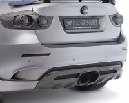 Накладка на бампер задний BMW X6M E71