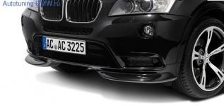 Накладка переднего бампера BMW X3 F25