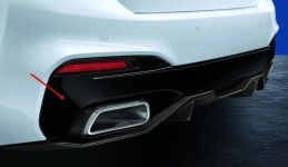 Накладка заднего бампера M Performance для BMW G30 5-серия