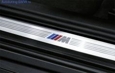 Накладки на пороги дверей «М» стиль для BMW F01 7-серия