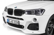 Накладки переднего бампера BMW X3 F25