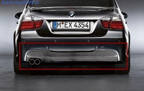 Карбоновая накладка на диффузор для BMW E90/E91 3-серия