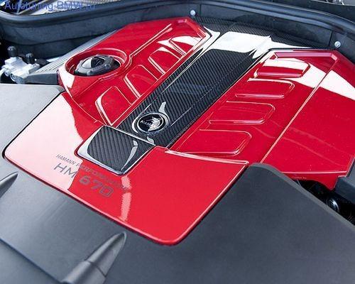 Карбоновая крышка на двигатель Hamann для BMW X5M E70
