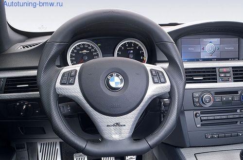 Карбоновая вставка AC Schnitzer в руль BMW X1 E84