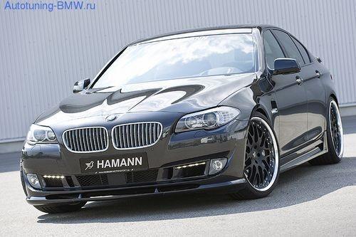 Накладка на бампер передний BMW F10/F11 5-серия