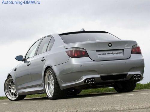 Накладка  Lumma на задний бампер BMW M5 E60 5-серия