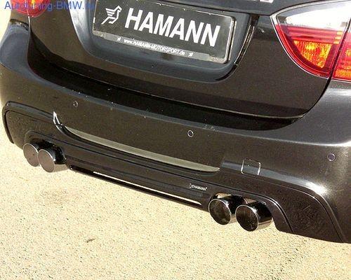 Накладка на задний бампер BMW E90 3-серия