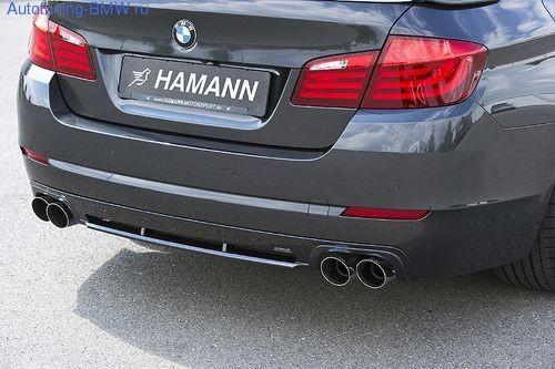 Накладка на бампер задний BMW F10 5-серия