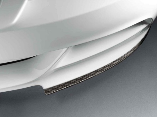 Карбоновые накладки на передний бампер BMW E90 3-серия