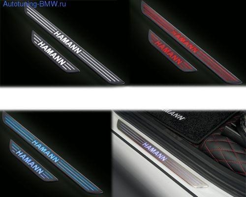 Накладки на пороги дверей для BMW X5 E70/X6 E71