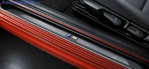 Накладки на пороги дверей M BMW E88 1-серия
