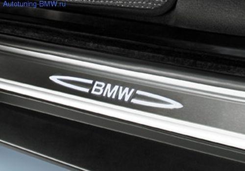 Накладки на пороги дверей с подсветкой BMW X5 E70/X6 E71