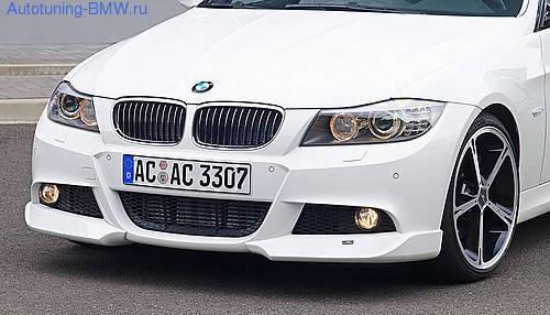Накладки на бампер передний BMW E90 3-серия
