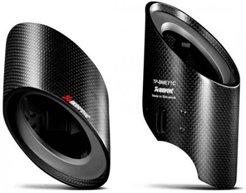 Карбоновые насадки глушителя Akrapovic для BMW X6 E71