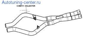 X-Pipe Akrapovic для BMW X5M E70/X6M E71
