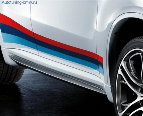 Боковые пороги M Performance Aero для BMW X6M E71