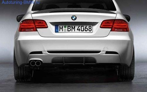 Диффузор M Performance для заднего бампера BMW E92 3-серия