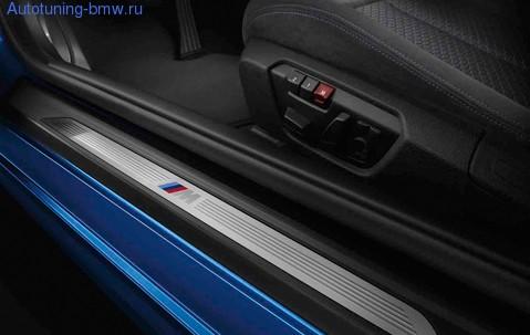 Дооснащение накладками порога М-стиль для BMW F32 4-серия