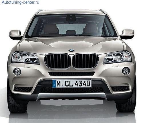 Накладка переднего бампера X Line для BMW X3 F25
