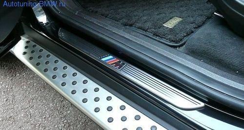 Накладки на пороги дверей М для BMW X5 E70/X6 E71