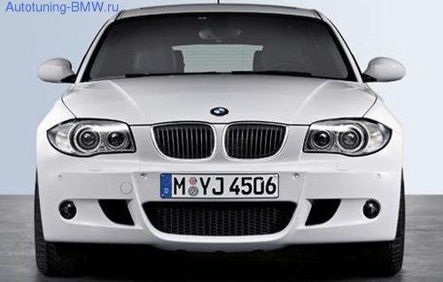 Передний бампер М-стиль для BMW E81/E87 1-серия