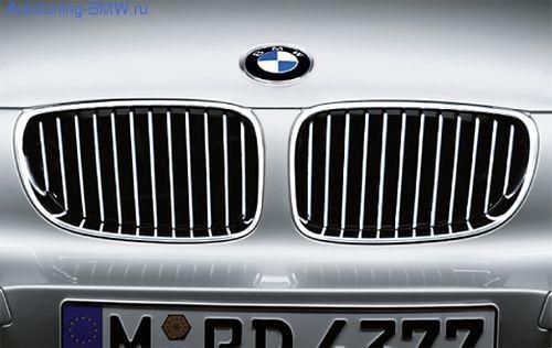 Решетка радиатора BMW E81/E87 1-серия (хром)