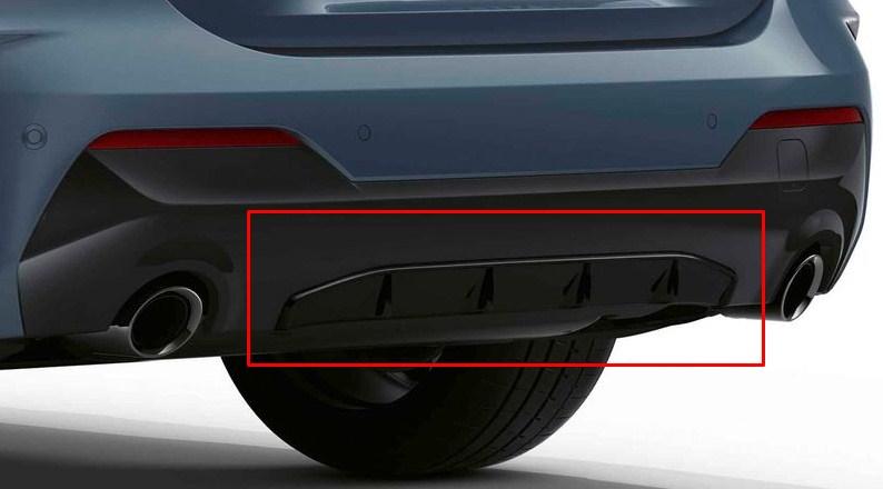 Задний диффузор M Performance для BMW G22 4-серия